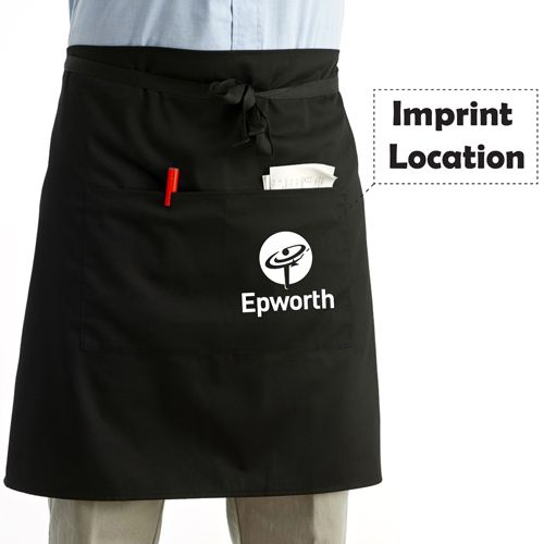 Men And Women Short Apron Imprint Image
