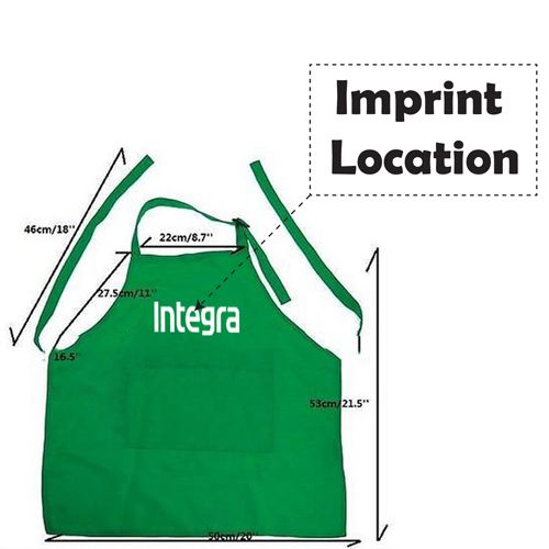 Adjustable Children Cooking Aprons Imprint Image
