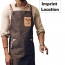 Personalized Logo Leather Strap Denim Apron Imprint Image