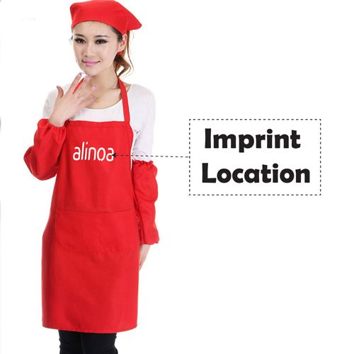 Restaurant Commercial Aprons With Pocket Imprint Image