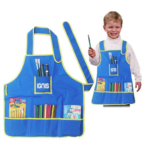 Childrens Craft Apron With 4 Pockets