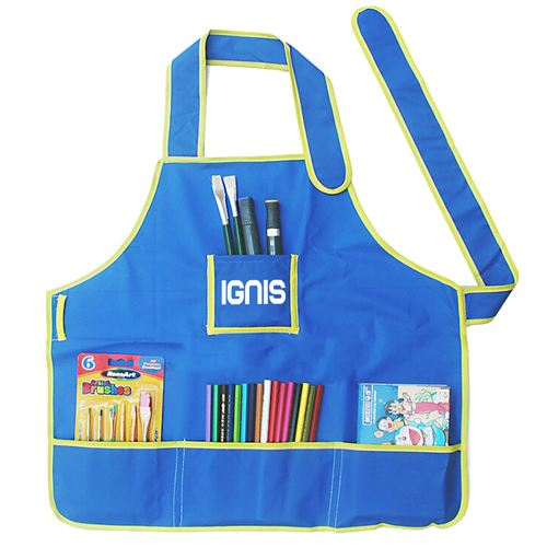 Childrens Craft Apron With 4 Pockets Image 1