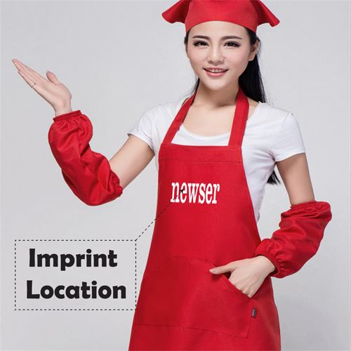 Korean Waiter Cooking Aprons Imprint Image