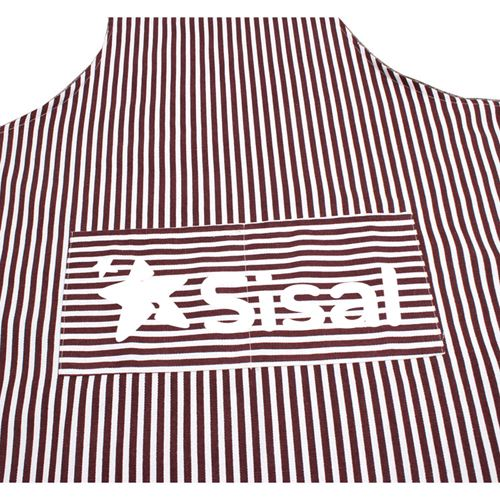 Stripe Cooking Apron With 2 Pockets Image 4