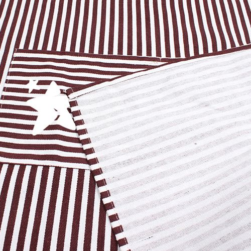 Stripe Cooking Apron With 2 Pockets Image 5