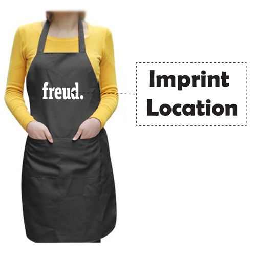 Unisex Chef Apron With 2 Pocket Imprint Image