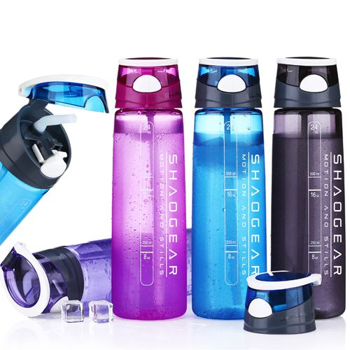 Transparent Sports Water Bottle With Straw