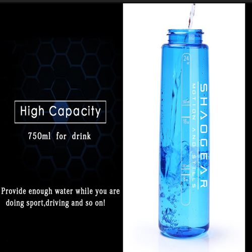 Transparent Sports Water Bottle With Straw Image 1