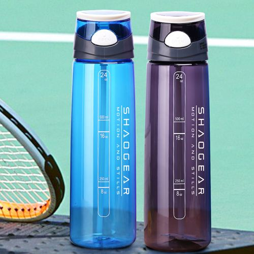 Transparent Sports Water Bottle With Straw Image 3