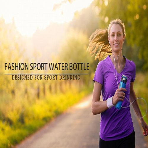Transparent Sports Water Bottle With Straw Image 6