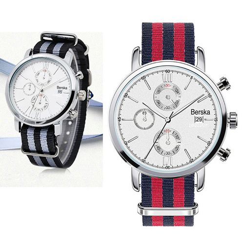 Chronograph Nylon Strap Watch  Image 1