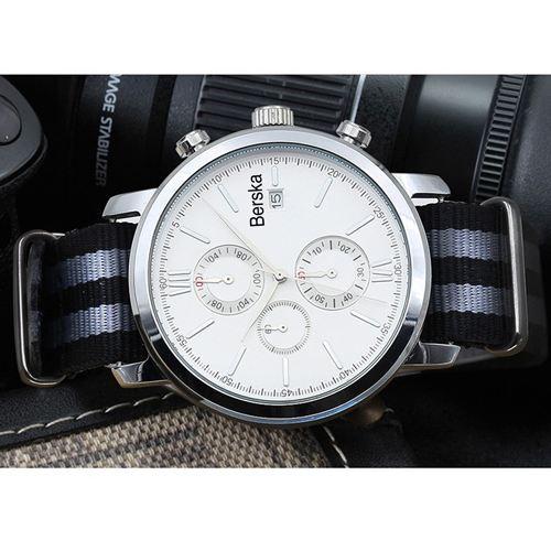 Chronograph Nylon Strap Watch  Image 3
