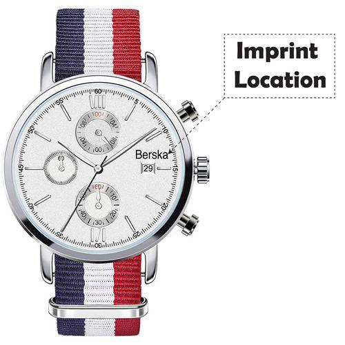 Chronograph Nylon Strap Watch  Imprint Image