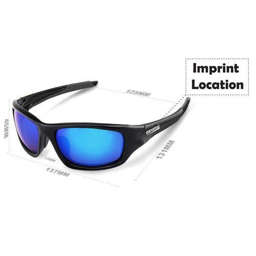 Sports Unbreakable Polarized Sunglasses Imprint Image