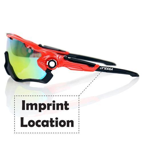 Mountain Bike Men Glasses Imprint Image