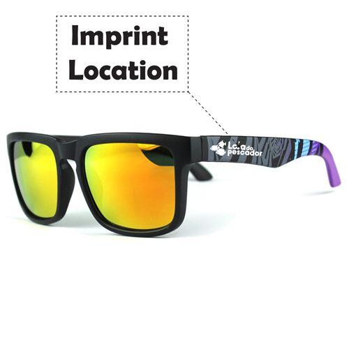 Sport Sunglasses Reflective Coating Imprint Image