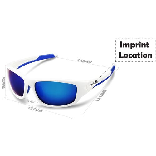 Mens Polarized Sports Sunglasses Imprint Image