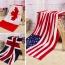 Summer Style Flag Dollar Bath Towel Image 1
