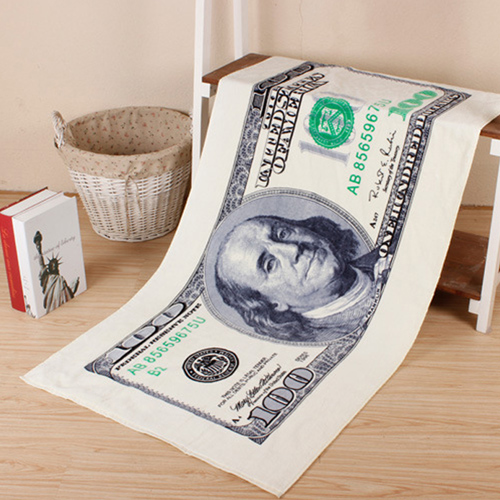 Summer Style Flag Dollar Bath Towel Image 4