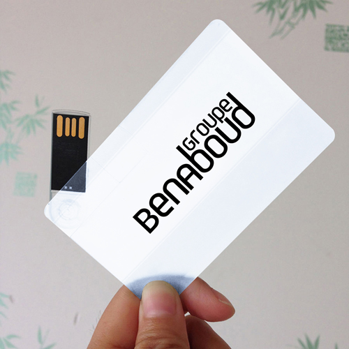 Transparent 1GB USB Card Flash Drive