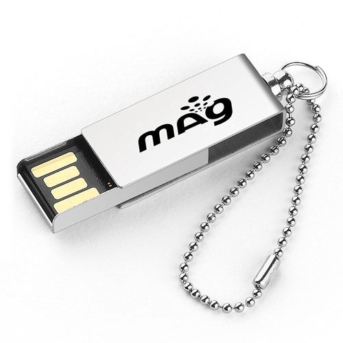 Waterproof Metal Rotation Flash Drive Image 1
