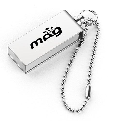 Waterproof Metal 2GB Rotation Flash Drive Image 2