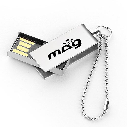 Waterproof Metal 2GB Rotation Flash Drive Image 4