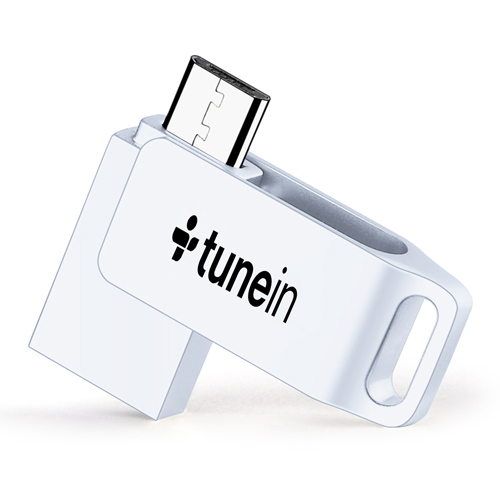 Rotating Dual Plug 4GB OTG Mini Flash Drive
