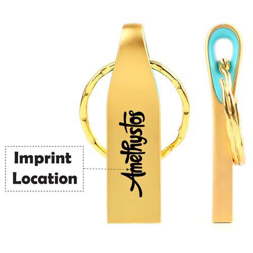 Ring Real USB 3.0 4GB Keychain Flash Drive Imprint Image