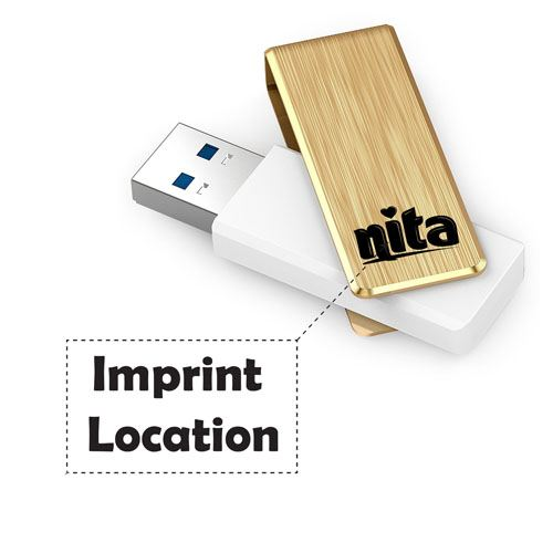 High Speed USB 3.0 4GB Flash Drive Imprint Image