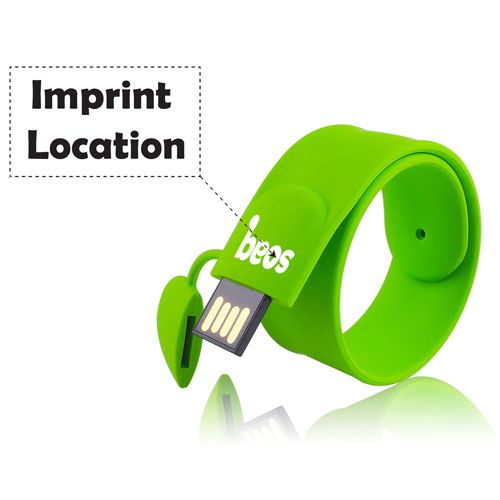 Silicone Wristband 4GB 2.0 Pen Drive Imprint Image