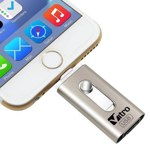 Metal 3 in 1 4GB Flash Drive Image 1