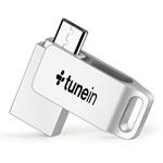 Rotating Dual Plug 8GB OTG Mini Flash Drive
