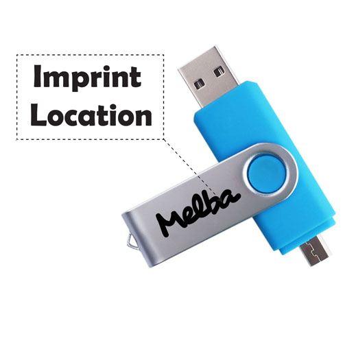 Two-Site OTG USB 8GB Flash Drive Imprint Image