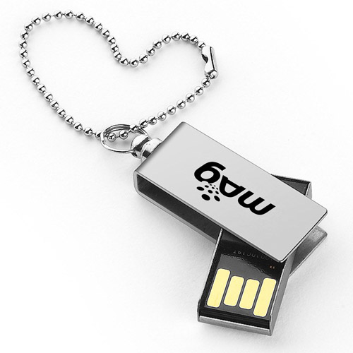Waterproof Metal 8GB Rotation Flash Drive