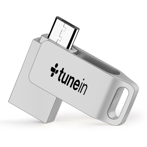 Rotating Dual Plug OTG Mini 16GB Flash Drive