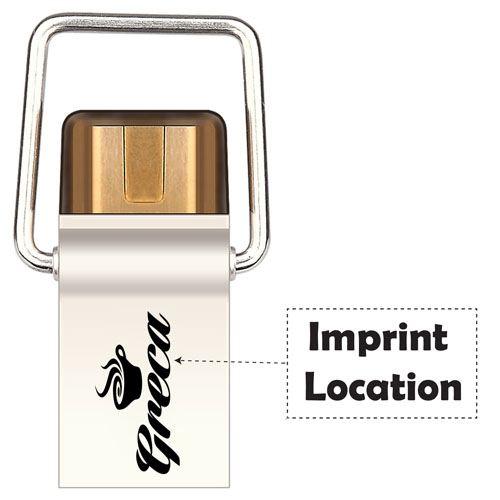 Ultra Metal USB 16GB Flash Drive Imprint Image