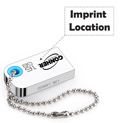 Super Mini 32GB USB 2.0 Flash Drive Imprint Image