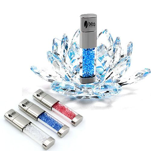Crystal USB Waterproof 32GB Pen Drive Image 1