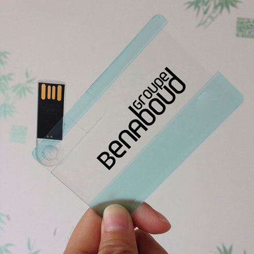 Transparent 32GB USB Card Flash Drive Image 1