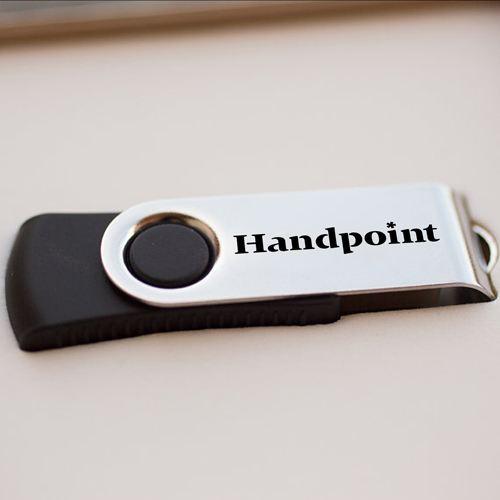 White Interior USB Flash Drive Box Image 2