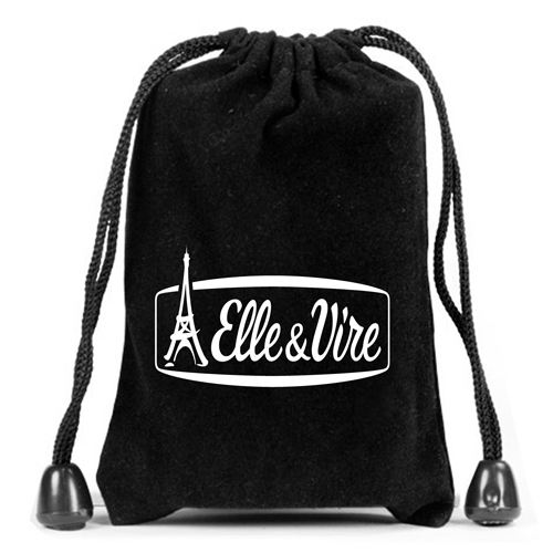 Velvet Flash Drive Drawstring Bag