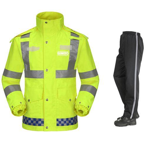 Reflective Safety Rain Jacket Image 1