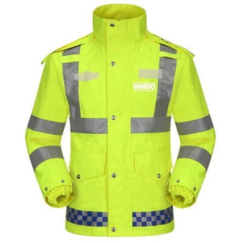 Reflective Safety Rain Jacket Image 2