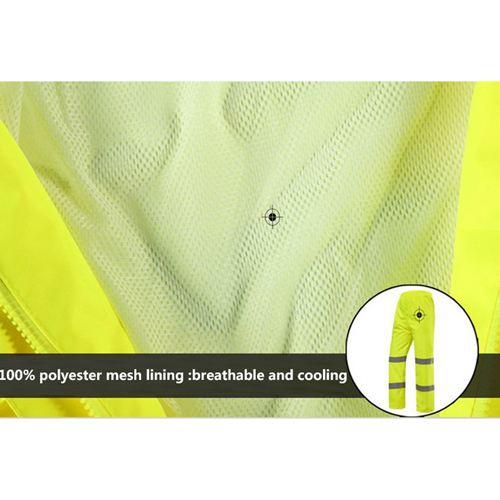 Reflective Safety Rain Jacket Image 5
