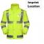 Reflective Safety Rain Jacket Imprint Image
