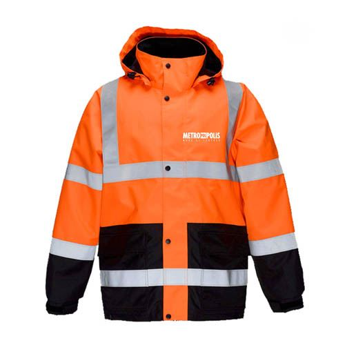 High Visibility Thermal Workwear Jacket Image 1