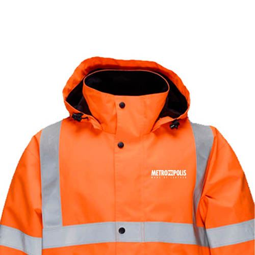 High Visibility Thermal Workwear Jacket Image 3