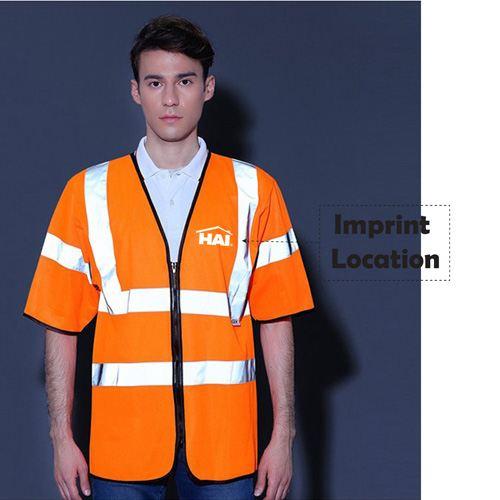 High Visibility Short Sleeve Safety Vest Imprint Image