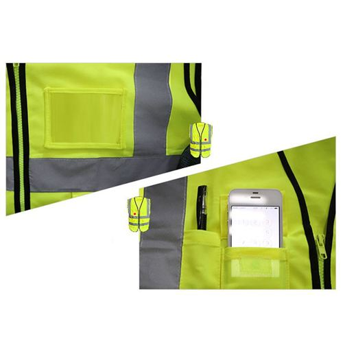 Building Construction High Visibility Safety Vest Image 4